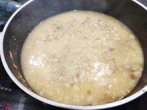 Soupe de champignons aux amandes