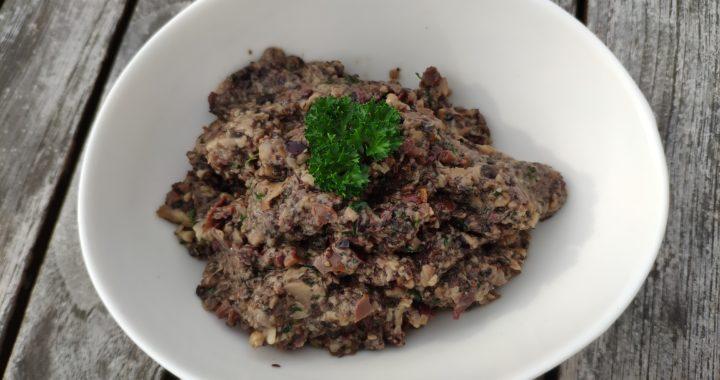 Tapenade champignons olives