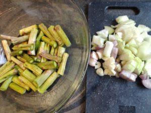 Soupe de queues d'asperges vertes