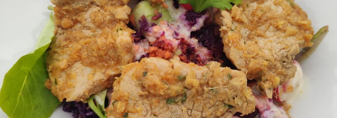 Salade d'été au filet mignon épicé