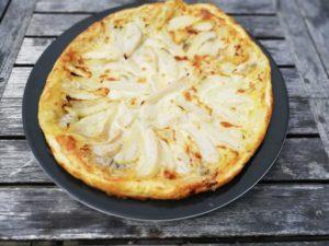 Tarte gorgonzola et poires