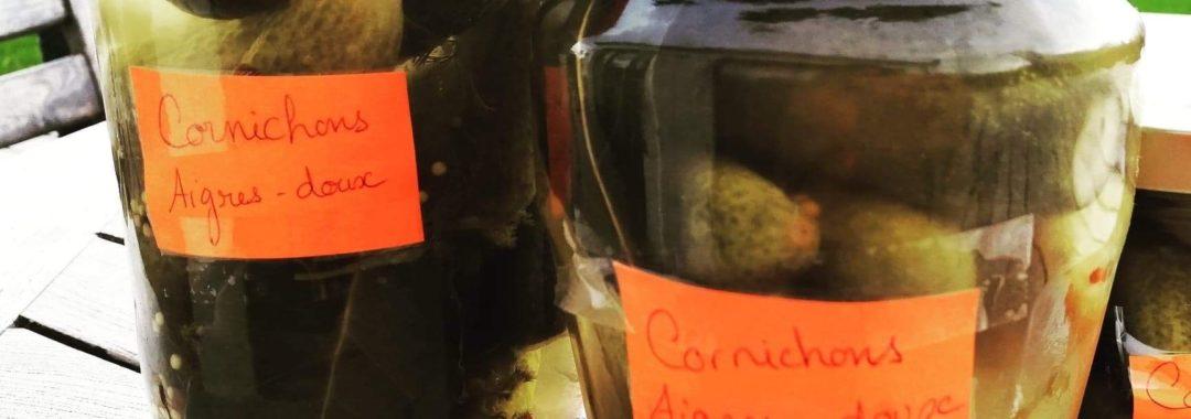 Cornichons aigres-doux
