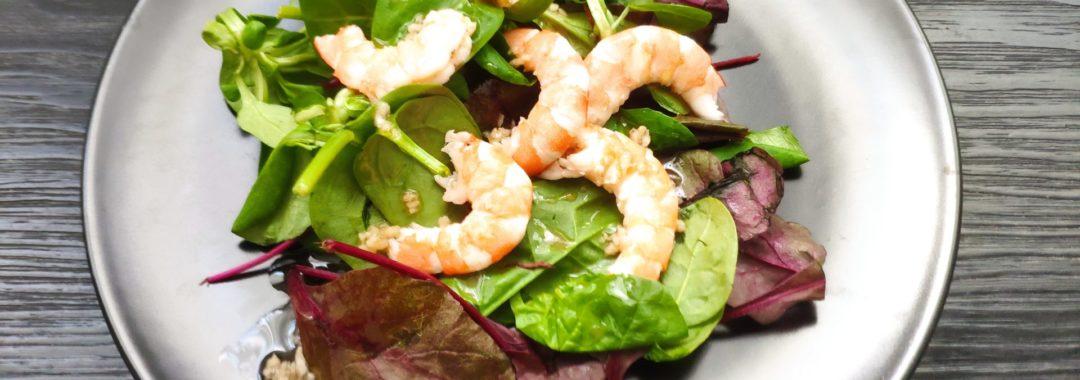Salade de crevettes à l'ail
