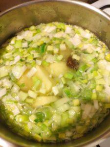 Soupe poireaux/pommes de terre