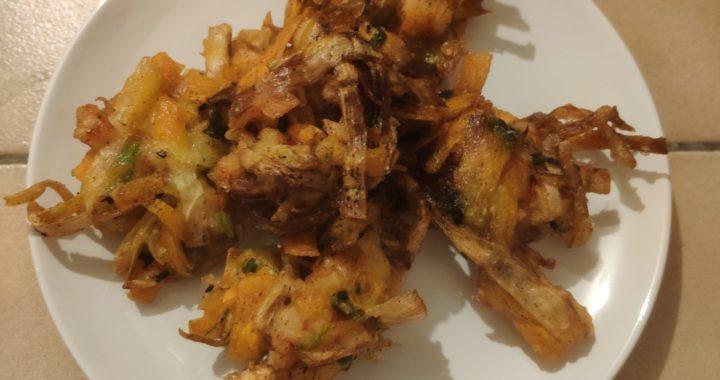 Tempuras de crevettes aux légumes