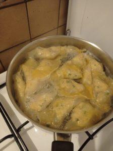 Ravioles de poulet
